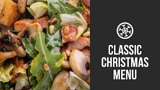 Christmas Salad With Pancetta, Chanterelles And Pine Nuts || Gastrolab Classic Christmas Menu