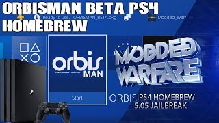 OrbisMan Homebrew on PS4 (5.05 Jailbreak)