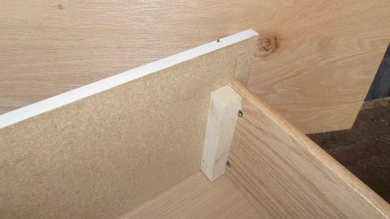 Carpinter a como arreglar un cajon youtube - Como hacer puertas de armario ...
