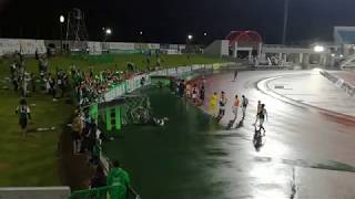 SC Sagamihara fans and players celebrate