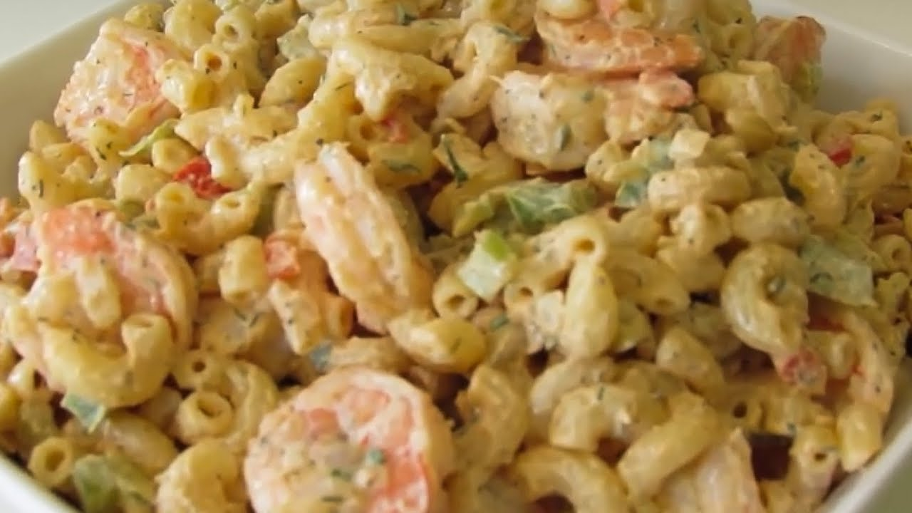 How To Make Shrimp Macaroni Salad Youtube