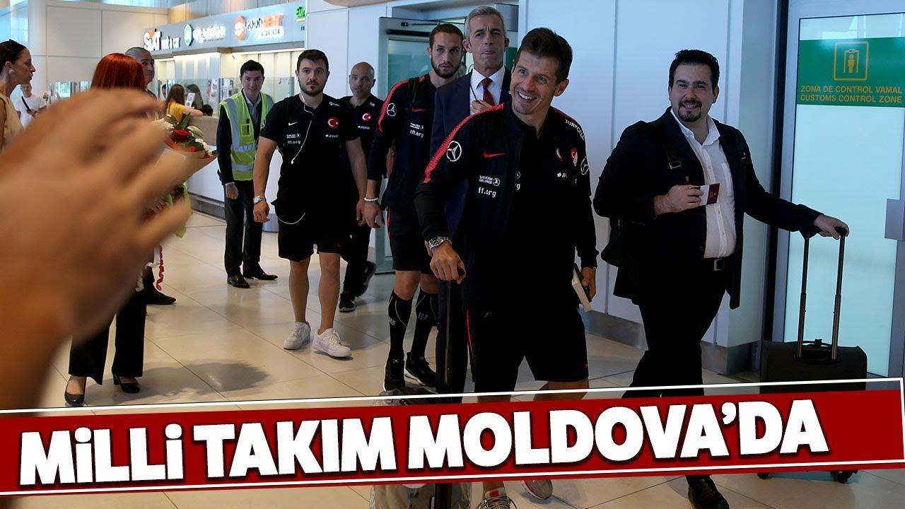 A Milli Futbol Takımı, Moldova'ya Geldi