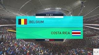 국가대표팀 친선경기 벨기에 vs 코스타리카 매치 게임 경기 하이라이트 영상