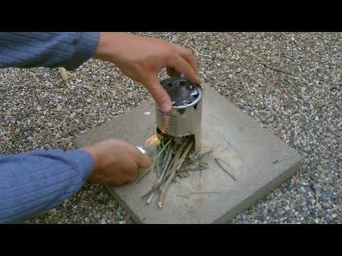 "DIY Hobostove - The Homemade ""Chunky Soup Can"" Cookstove (stove #6) - Simple Instructions"