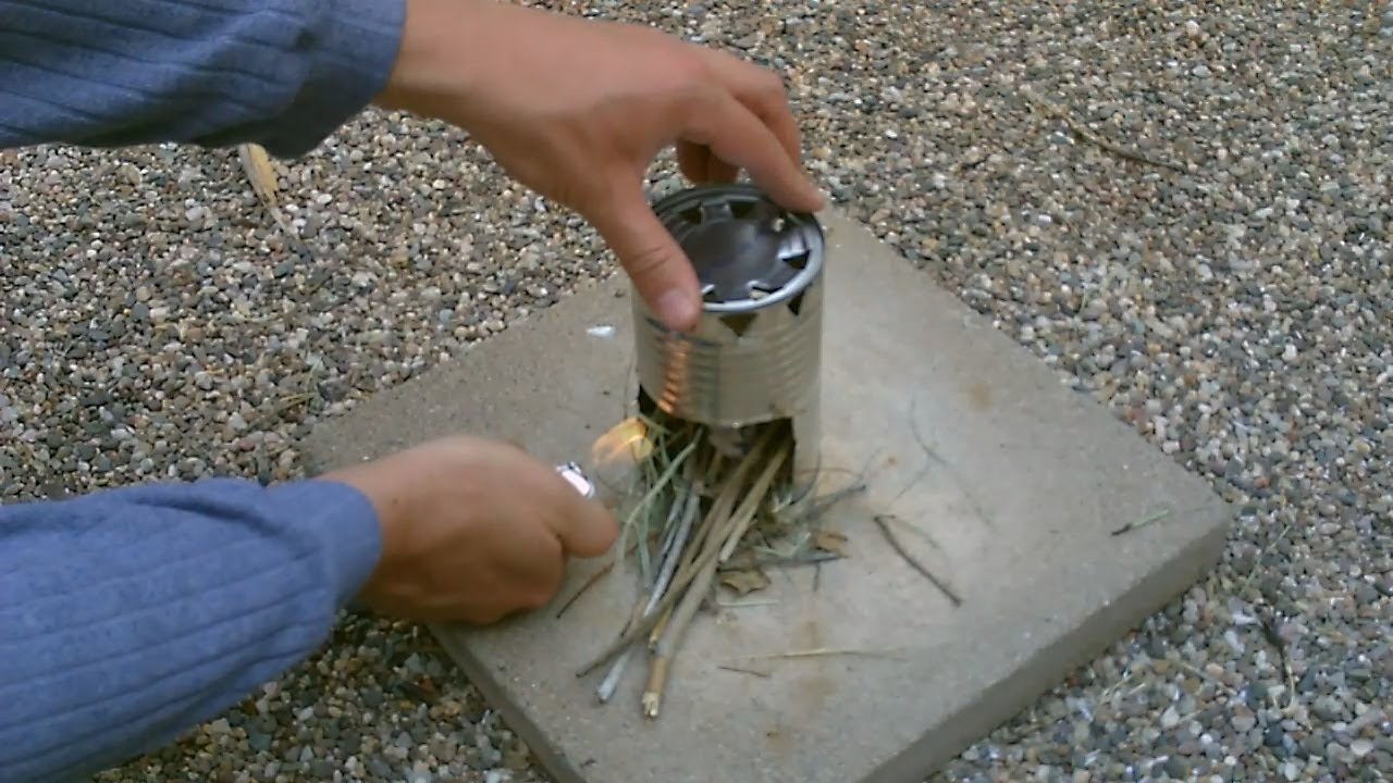 Diy Hobostove The Homemade Quot Chunky Soup Can Quot Cookstove