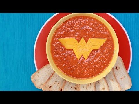 WONDER WOMAN TOMATO SOUP - NERDY NUMMIES