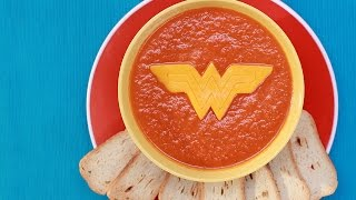 WONDER WOMAN TOMATO SOUP - NERDY NUMMIES