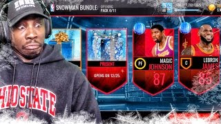 snowman pack opening elite player exchange nba live mobile 16 gameplay ep 50