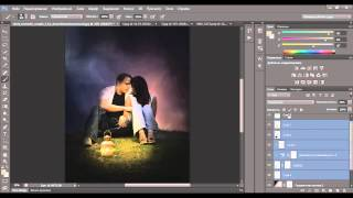 Видеоурок Photoshop Романтический коллаж