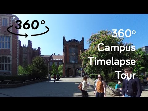 Newcastle University Campus Tour in 360º Timelapse