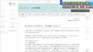 リクナビ 学生の「内定辞退予測」を企業に提供(19/08/02)