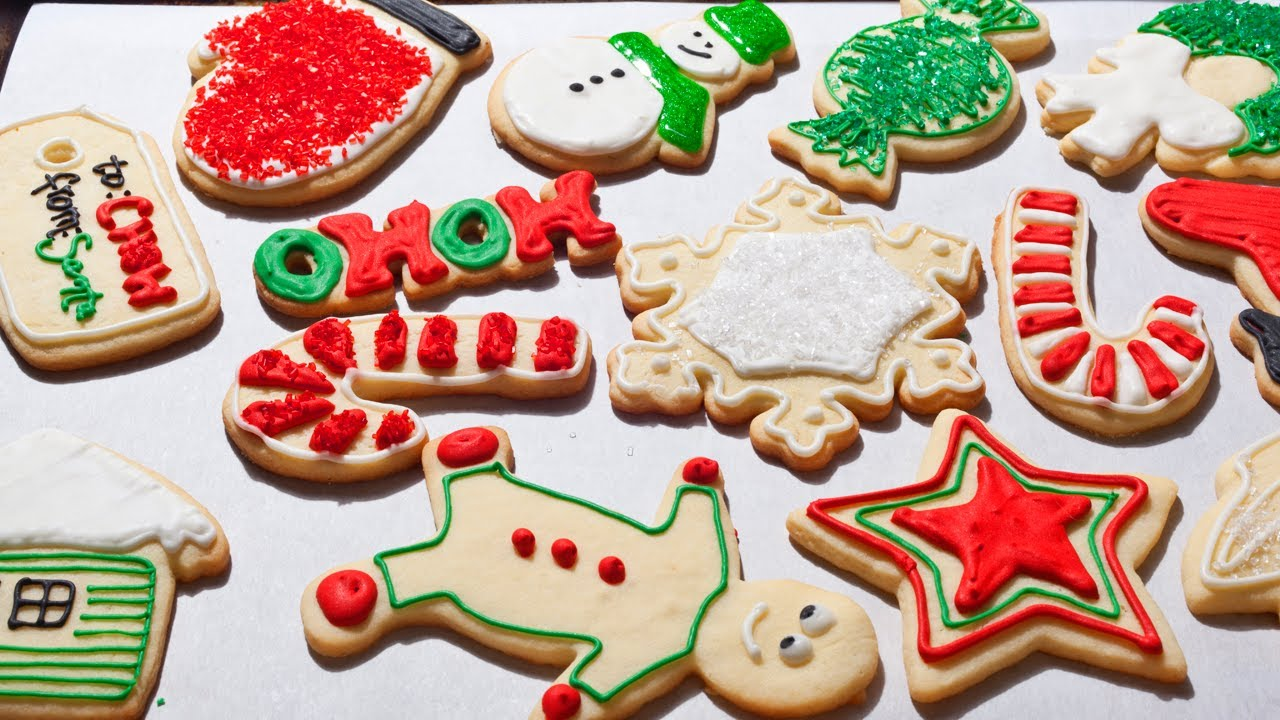 how to make easy christmas sugar cookies the easiest way youtube