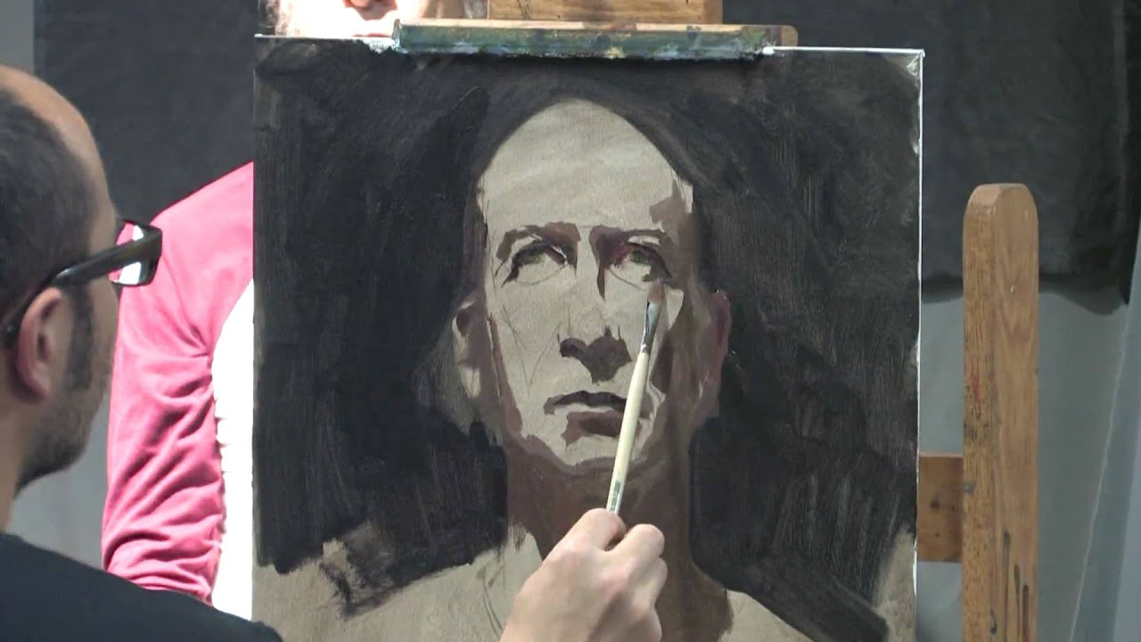 Sean Cheetham Painting Portrait