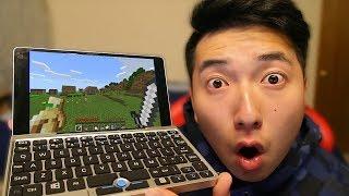 Minecraft On The World's Smallest Laptop! (GearBest)