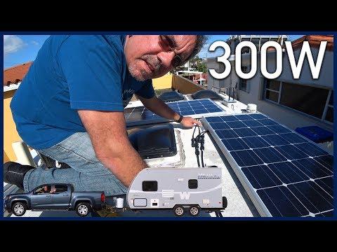 300W Solar Upgrade and New Fantastic Vent