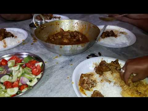 Sunday Special  Pure Mutton Feast with my friends   Hot & Spicy  😀