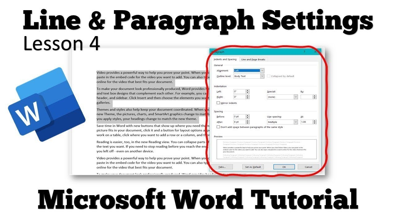 how to change the spacing on microsoft word 2016