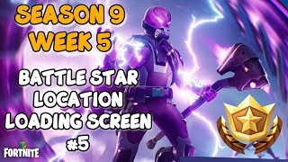 Fortnite - SEASON 9 WEEK 5 UTOPIA CHALLENGE SECRET BATTLE STAR LOCATION IN LOADING SCREEN #5