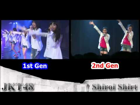 JKT48 - Shiroi Shirt (2 Different Audio)
