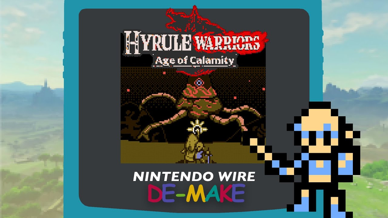 Hyrule Warriors Age Of Calamity Reimagined In Game Boy Color De Make