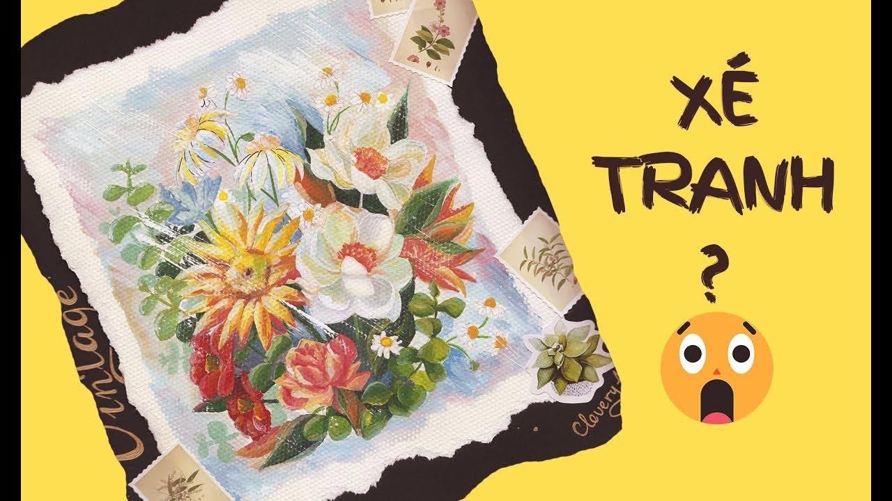 [Watercolor tutorial] MÀU THIÊN LONG | VẼ HOA | MÀU NƯỚC HỌC SINH | Clovery Art