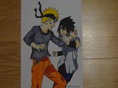 Dessin Naruto And Sasuke Last Battle Youtube
