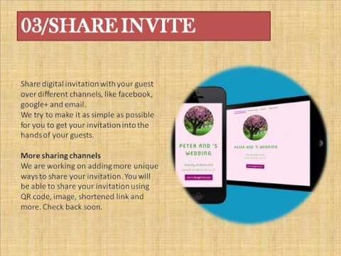 Online invitations e invite free invitation maker youtube online invitations e invite free invitation maker stopboris Images