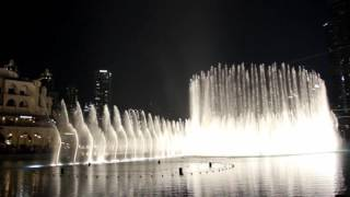 Burj Khalifa, Dubai Mall - Fountain Show (May 2016)