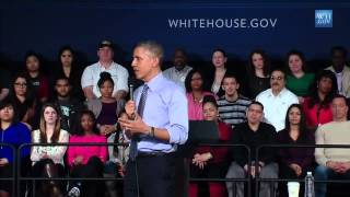Obama In Indianapolis - Full Speech And Q & A With Students