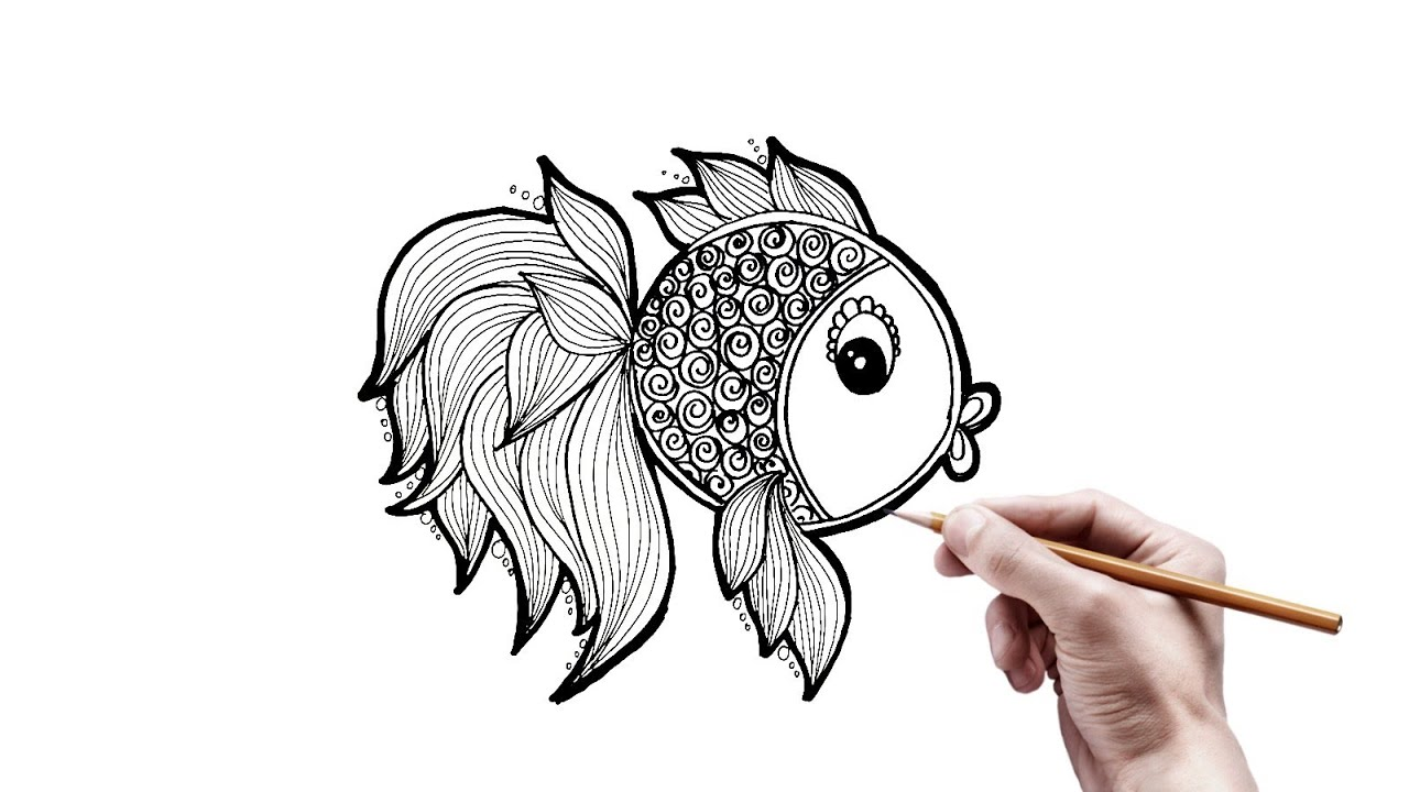 Menggambar Ragam Hias Ikan Mudah Youtube