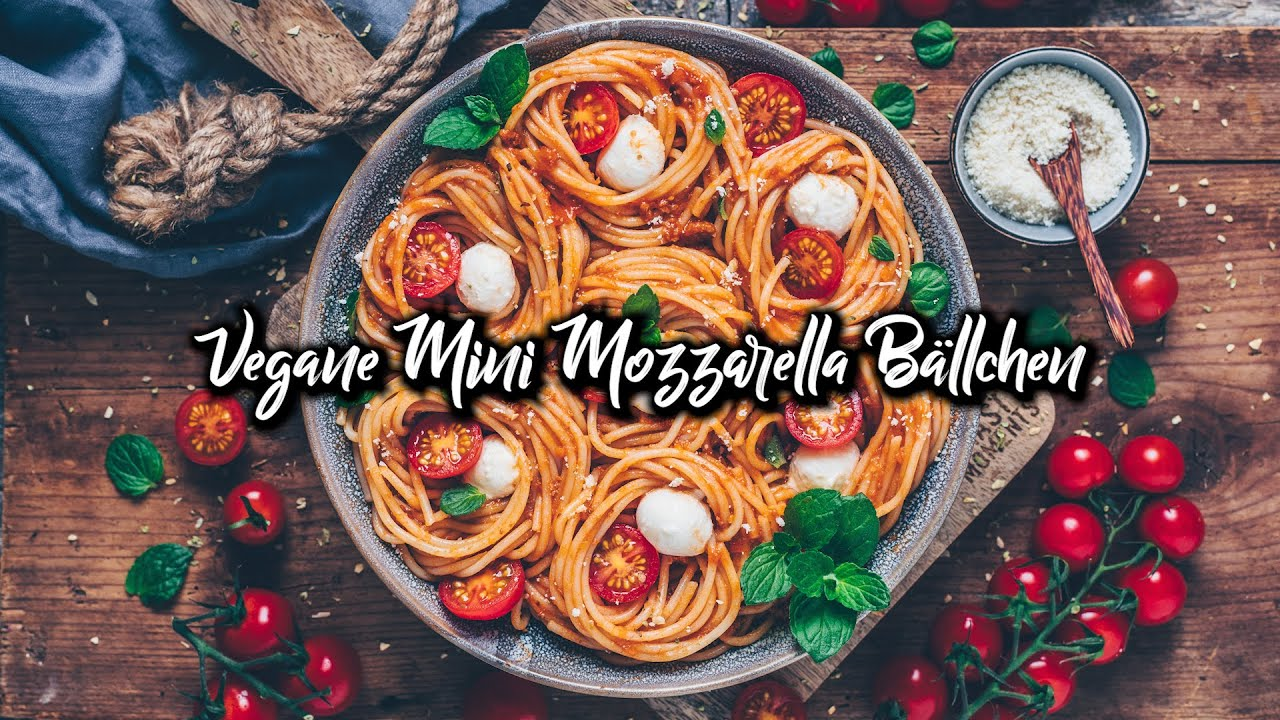 Vegane Mini Mozzarella Käse Bällchen - Einfach selber machen!