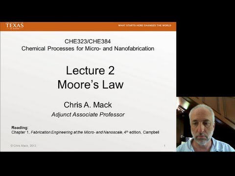 Lecture 2 (CHE 323) Moore's Law
