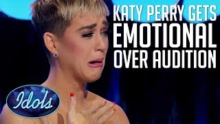KATY PERRY Gets Teary Eyed Over Shannon Hara's Version Of Her Song Unconditionally On American Idol