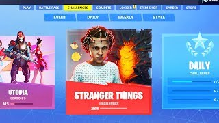 The NEW Fortnite STRANGER THINGS FREE REWARDS! (Free Fortnite x Stranger Things Event Rewards)