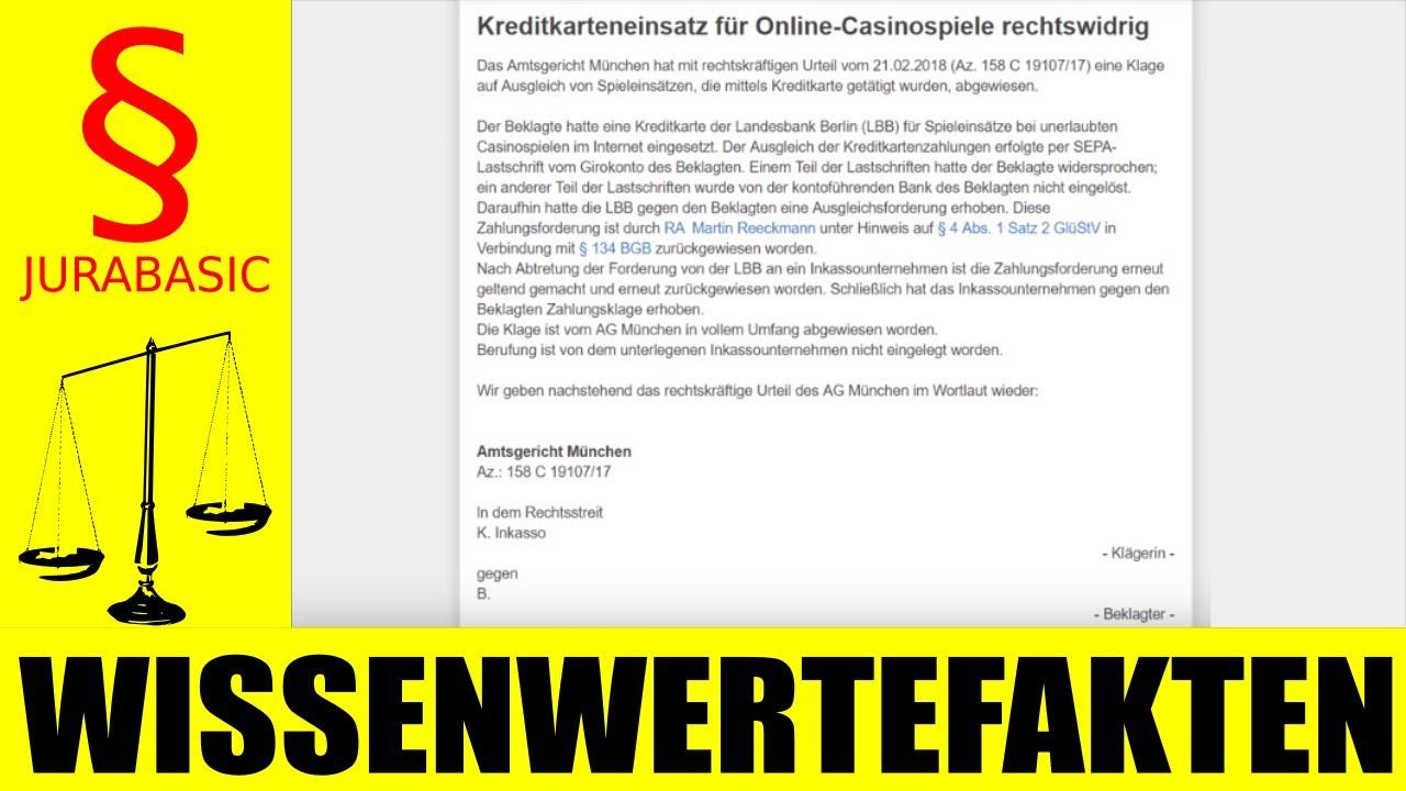 Online Casino Klage