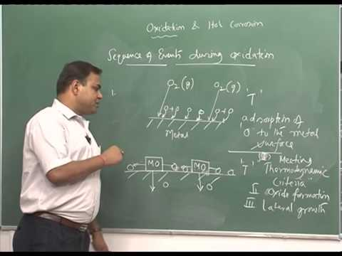 Mod-01 Lec-37 Oxidation and hot corrosion, pitting Bedworth ratio, thermodynamics of oxidation