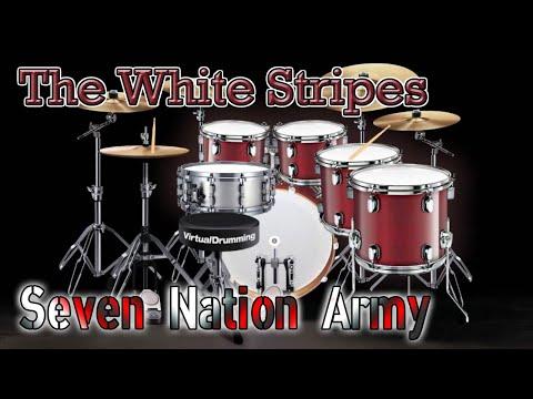 Virtual Drumming  The White Stripes  Seven Nation Army