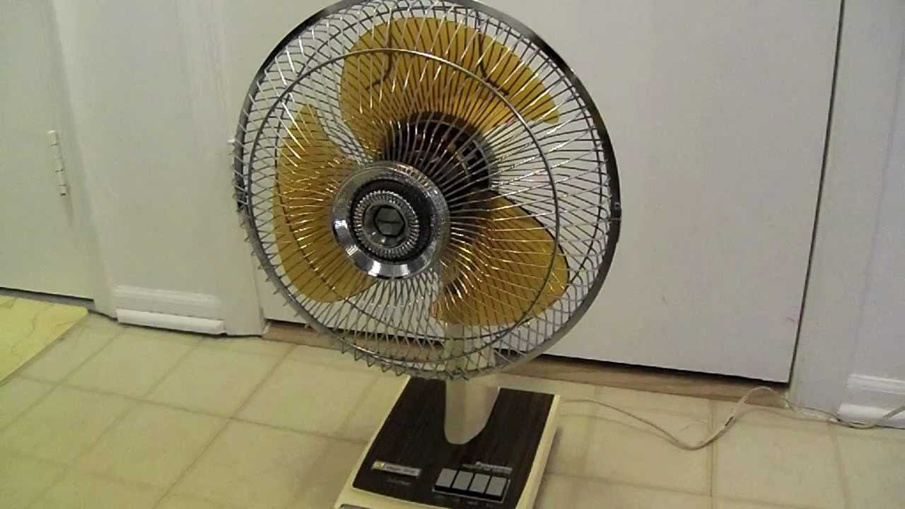 Panasonic Table Fan : Vintage panasonic magic stop quot fan youtube