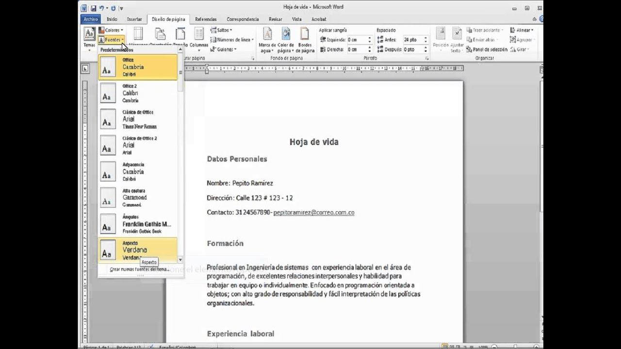 formato ms word