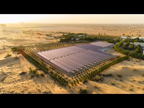 Solar Panels Project Dubai - 4K Aerial