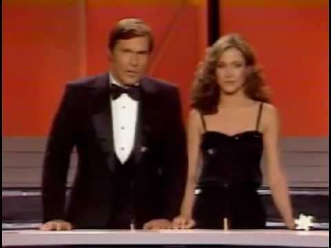 Gil Gerard and Erin Gray presenting