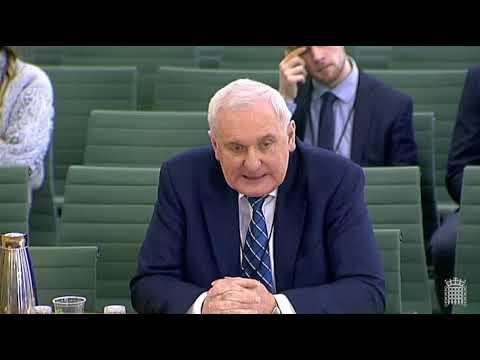 BrExit: Good Friday / Belfast Agreement & WA Irish Protocol, (Backstops) - Bertie Ahern, 13 Feb 2019