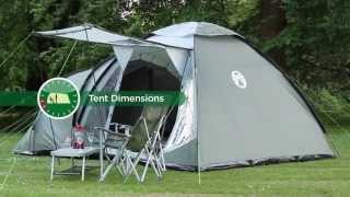Coleman® Waterfall 5 Deluxe - Tunnel & Dome Tent for Family Camping