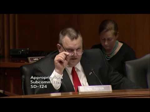 Senator Jon Tester of Montana grills EPA Administrator Scott Pruitt on Montana Superfund sites