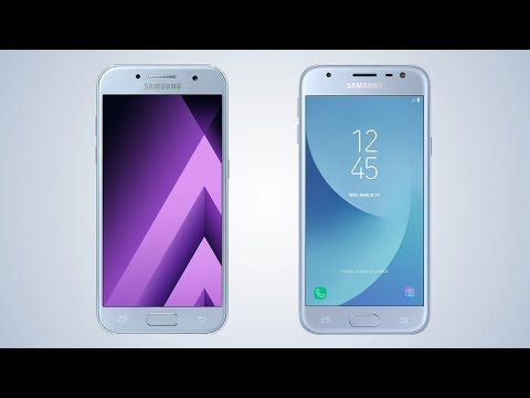 Samsung Galaxy A3 2017 vs Galaxy J3 2017 - Comparison video