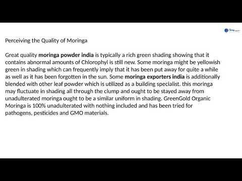 A Guide to Buying Moringa