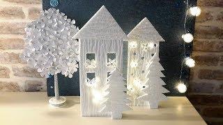 DIY ДЕКОРАТИВНЫЙ СВЕТИЛЬНИК \ ДОМИК ИЗ ПОТОЛОЧКИ... decorative foam lamp