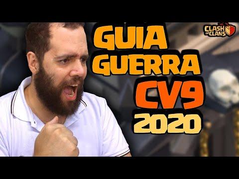 ATUALIZADO! NOVO GUIA COMPLETO CV9 NA GUERRA CLASH OF CLANS [3 Estrelas Cv9 Guerra Clash Of Clans]