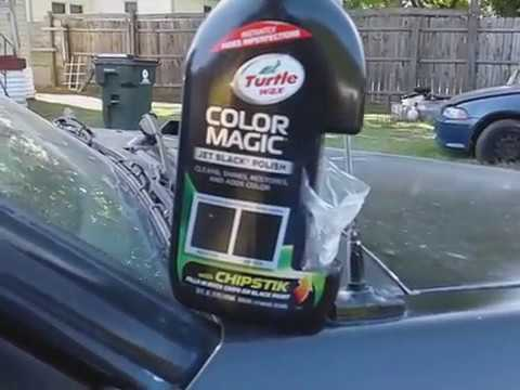 Turtle Wax Color Magic Taking Out This Chip Black Paint