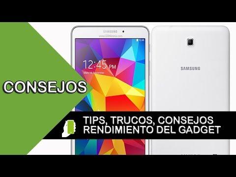 Samsung Galaxy TAB 4 tips  y trucos para android  (aumenta velocidad, rendimiento y batería)